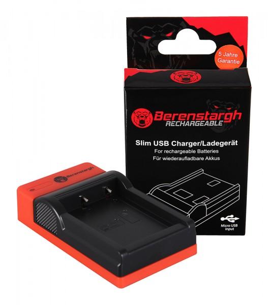 Berenstargh Slim Micro-USB Ladegerät f. Fujifilm Fuji NP-W126 FinePix HS30 EXR HS30EXR HS-30EXR HS33