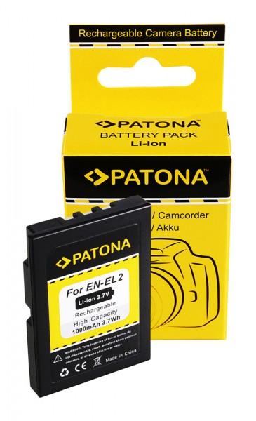 Akku f. Nikon EN-EL2 CoolPix 2500 3500 SQ von PATONA