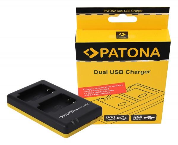 PATONA Dual Schnell-Ladegerät f. Sony NP-BX1 NPBX1 inkl. Micro-USB Kabel