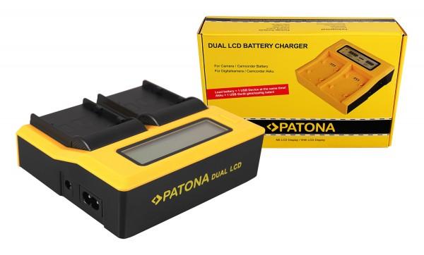PATONA Dual LCD USB Ladegerät f. Canon BP-A30 EOS C200 C200B C200 PL C300 Mark II XF705 CA-CP200L
