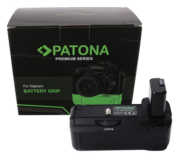 PATONA Premium Batteriegriff VG-A6500 Sony A6500 für 1 x NP-FW50 Akku inkl. Fernbedienung