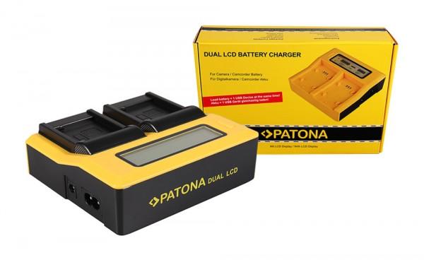PATONA Dual LCD USB Ladegerät f. PanasonicDMW-BLE9 DMW-BLE9E Lumix DMC-GF3 DMC-S6K