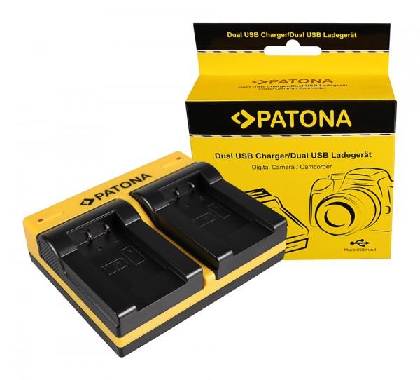 PATONA Dual Ladegerät f. Sanyo DB-L90 DMX DMXSH1 DMX-SH1 DMXSH11 DMX-SH11 DB-L90 VPC inkl. Micro-USB