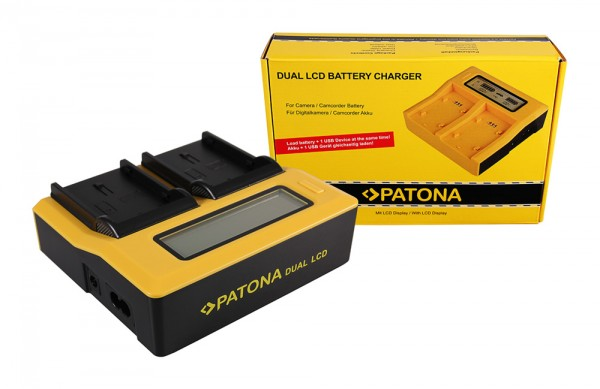 Dual LCD Ladegerät f. Pentax D-LI90 K K01 K-01 K5 K-5 K5 II K-5 II K5 IIs K-5 IIs von PATONA