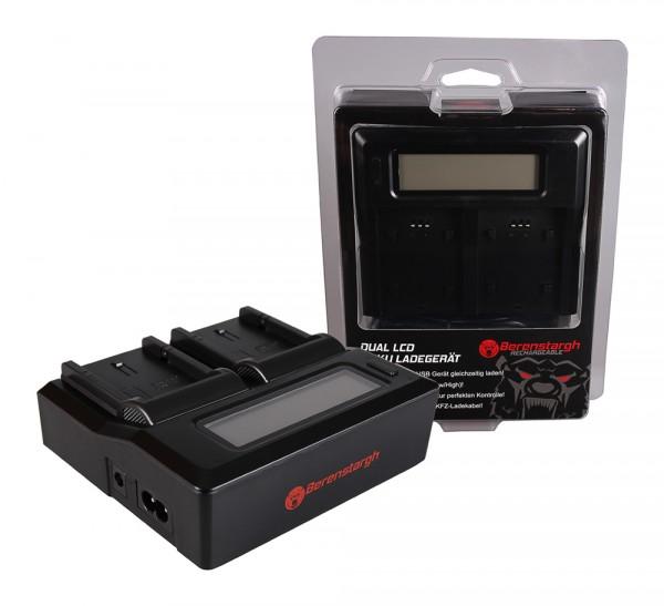 Berenstargh Dual LCD USB Ladegerät f. Fujifilm Fuji NP-W126 FinePix HS30 EXR HS30EXR HS-30EXR HS33