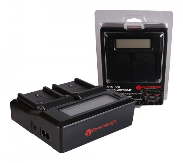 Berenstargh Dual LCD USB Ladegerät f. Hitachi CGA-DU14 DZMV350A DZMV350A DZ-MV350A DZ-MV350A DZMV350