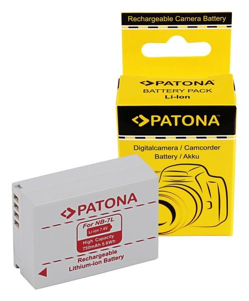 Akku f. Canon NB-7L PowerShot G10 G11 G12 von PATONA