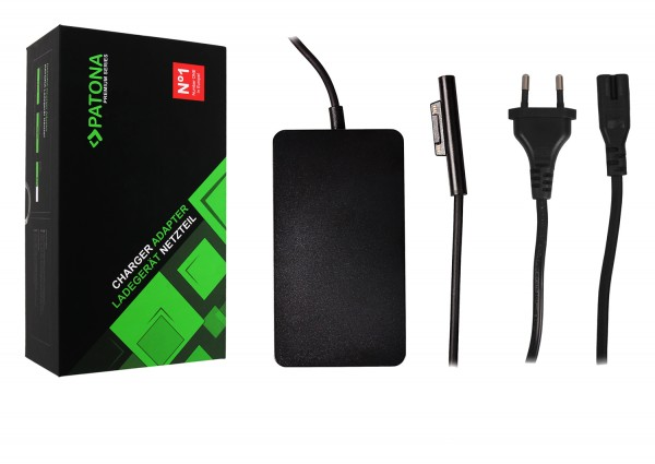 PATONA Premium Netzteil für Surface Pro 6 Pro 5 Pro 4 Modell 1706 Ladekabel Adapter 65W mit USB Ausgang