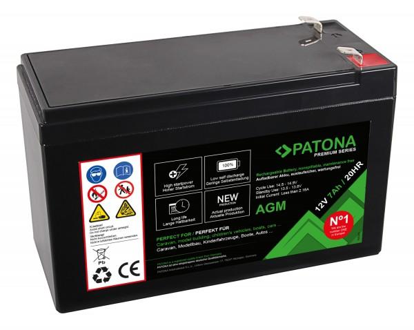 PATONA Premium AGM Blei Akku 12V 7Ah 20HR