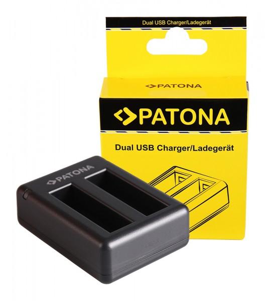 PATONA Dual Schnell-Ladegerät f. Garmin VIRB Ultra 30 GMICP902937 inkl. Micro-USB Kabel
