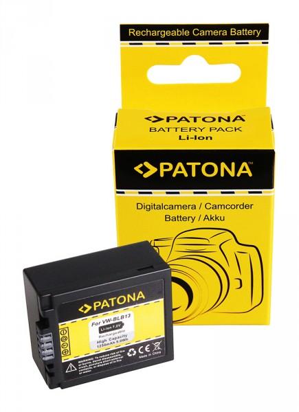 Akku f. Panasonic VW-BLB13 Lumix DMCG1 DMC-G1 DMCG10 DMC-G10 DMCG10K von PATONA