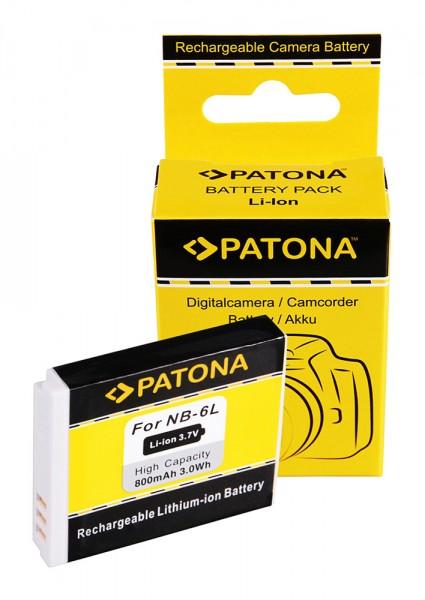 Akku f. Canon NB-6L Digital Ixus 85 IS NB-6L IXY 25 IS NB-6L PowerShot von PATONA