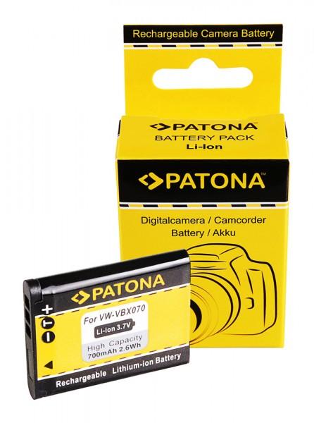 Akku f. Pentax D-Li88 Panasonic VBX070 Optio H90 P70 P80 W90 WS80 von PATONA