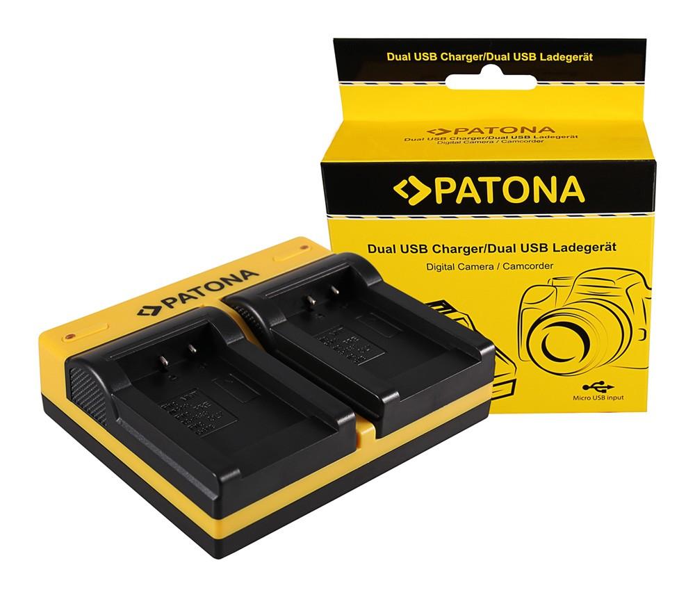 Patona Acer Minolta NP-900 CS 6531N CS 6531-N CS5530 CS-5530 Minolta dupla töltő  USB kábellel
