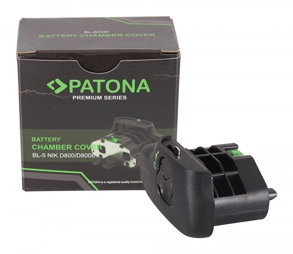 PATONA Akkufachdeckel BL-5 f. Nikon D800 D800E EN-EL18 im Batteriegriff MB-D12 MB-D18