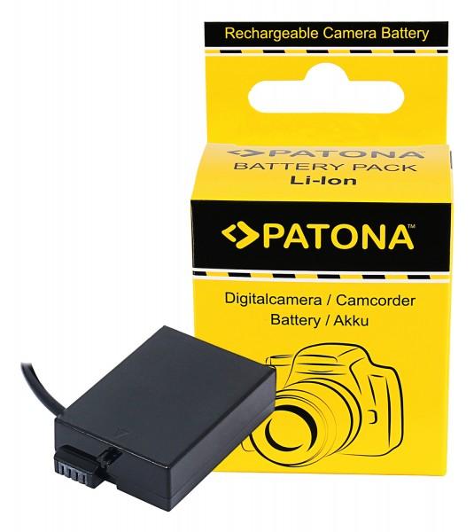 PATONA D-TAP Input Akku-Adapter für Canon LP-E8 LPE8 EOS 550D EOS 600D EOS 550-D EOS 600-D