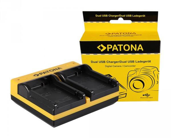 PATONA Dual Ladegerät f. Canon LP-E8 EOS 550D 600D 650D 700D inkl. Micro-USB Kabel