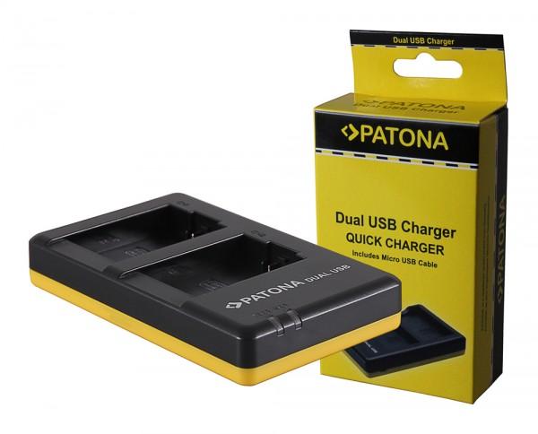 PATONA Dual Schnell-Ladegerät f. Leica BP-DC9 Panasonic DMW-BMB9 V-Lux V-Lux 2 VLux 2 II inkl. Micro