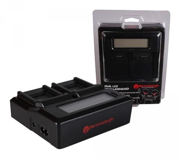 Berenstargh Dual LCD USB Ladegerät f. Casio Panasonic CGA-S007E Exilim EXZ150 EX-Z150 EXZ155 EX-Z155