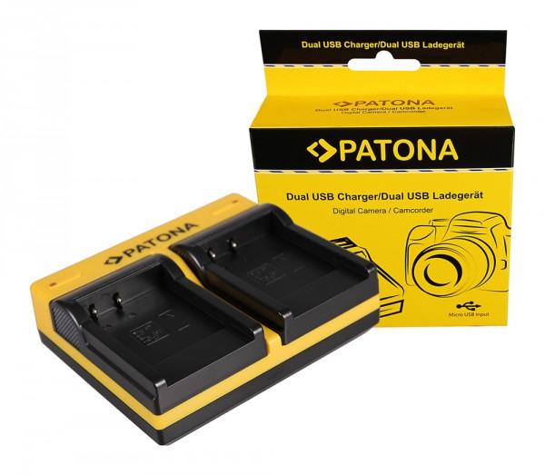 PATONA Dual Ladegerät f. Sony NP-BN1 Cybershot DSCT99 DSC-T99 DSCTX5 DSC-TX5 DSCTX7 inkl. Micro-USB