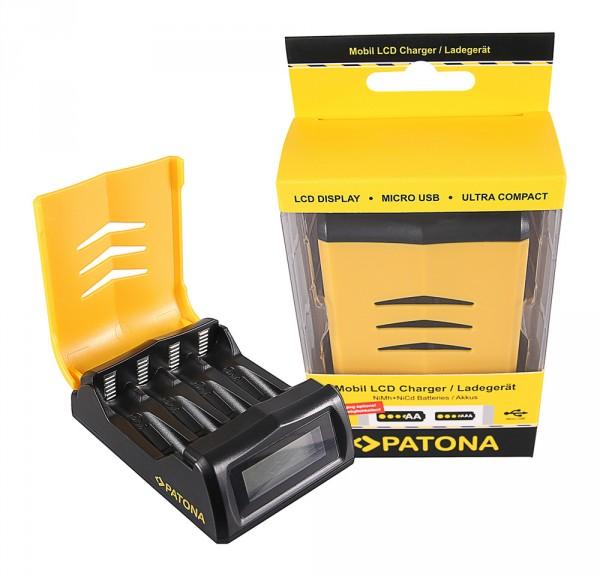 Schnell-Ladegerät Mignon AA / Micro AAA Akkus LCD-Display von PATONA