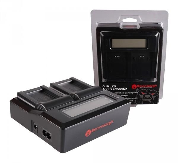 Berenstargh Dual LCD USB Ladegerät f. Aiptek Ordro NP-170 084-07042L-062 AHD 2 AHD H23 CB-170 Ordro