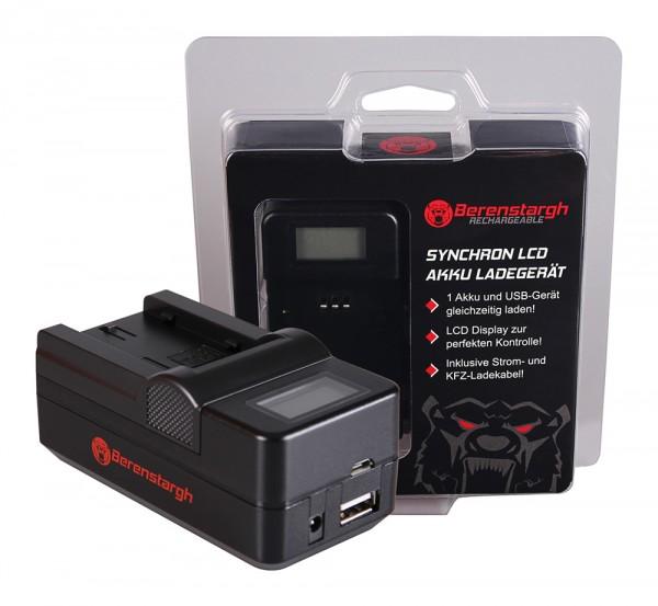 Berenstargh Synchron USB Ladegerät f. Sony NP-FS11 DCR-PC DCRPC1 DCR-PC1 DCRPC2 DCR-PC2 DCRPC3