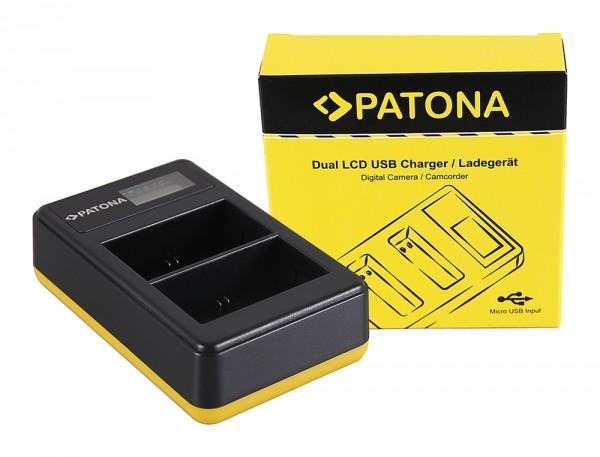 PATONA Dual LCD USB Ladegerät f. Canon LP-E6 5D 60D 60Da 6D 7D EOS-70D