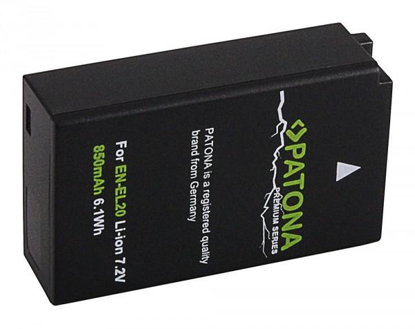 Premium Akku f. Nikon EN-EL20 1 A Blackmagic Pocket J1 J-1 J2 J3 S1 V3 V-3 von PATONA