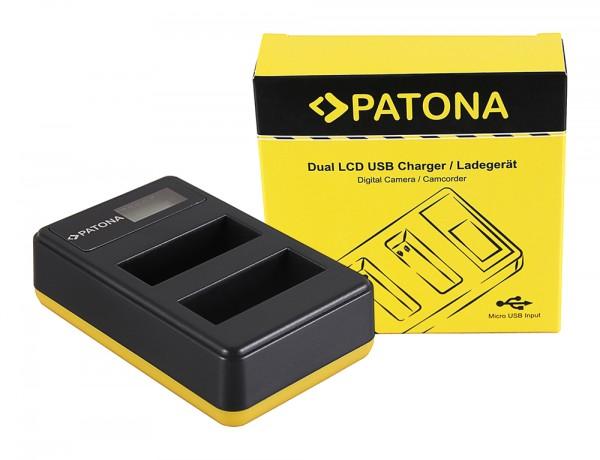 PATONA Dual LCD USB Ladegerät f. Nikon EN-EL14 CoolPix D3100 D3200 D5100 D5200 P7000 P7100 P7700