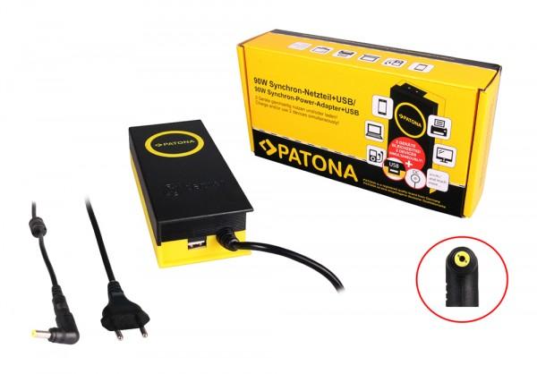 90W Synchron Netzteil 5,5x2,1x12mm 19V inkl. USB Ausgang 2,1A von PATONA