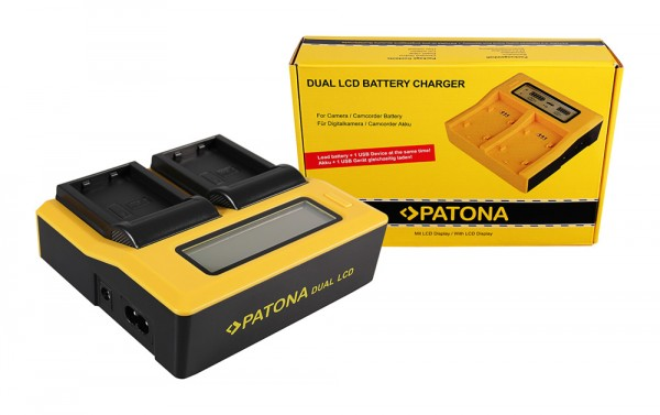 PATONA Dual LCD USB Ladegerät f. Nikon EN-EL23 Coolpix p600