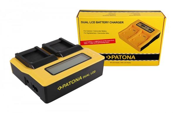 PATONA Dual LCD USB Ladegerät f. Panasonic DMW-BCM13 Lumix DMCFT5 DMC-FT5 DMCFT51 DMCTS5 DMC-TS5