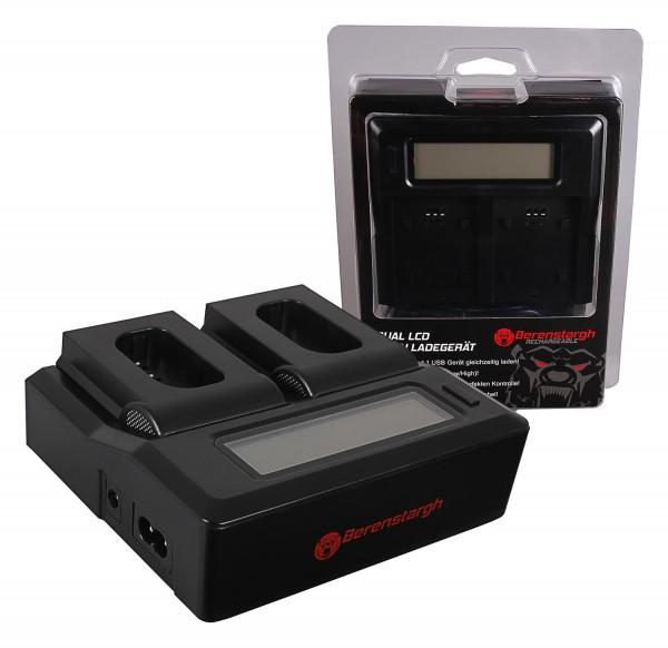 Berenstargh Dual LCD USB Ladegerät f. Panasonic DMW-BLJ31 Lumix DC-S1 DC-S1R DC-S1H