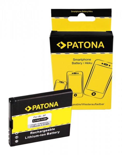 Akku f. Nokia N95 6290 6210 Navigator 6210S 6710 Navigator E65 N93i N95 von PATONA