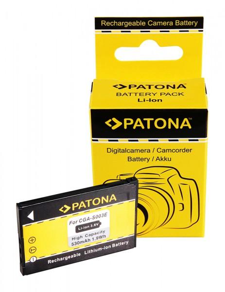 Akku f. Panasonic CGA S003 SASA30 SA-SA30 SVAS10 SV-AS10 SVAV50 SV-AV50 von PATONA