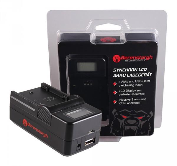 Berenstargh Synchron USB Ladegerät f. Pentax D-LI109 K K2 K-2 K30 K50 K-50 K500 K-500 KR