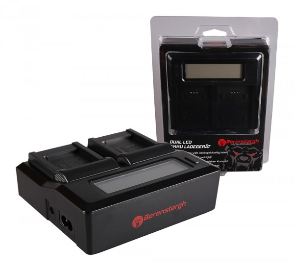 Berenstargh Dual LCD USB Ladegerät f. Canon NB-11L IXUS 125HS 240HS NB-11L Powershot A1200 A2200