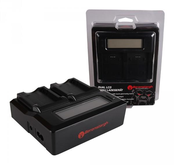 Berenstargh Dual LCD USB Ladegerät f. Fujifilm Fuji NP-40 Finepix F30 F-30 F31 F-31 F31fd F-31fd F40