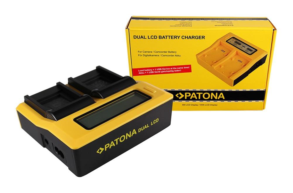 Patona Casio Panasonic CGA-S007E Exilim EXZ150 EX-Z150 EXZ155 EX-Z155 dual LCD USB töltő
