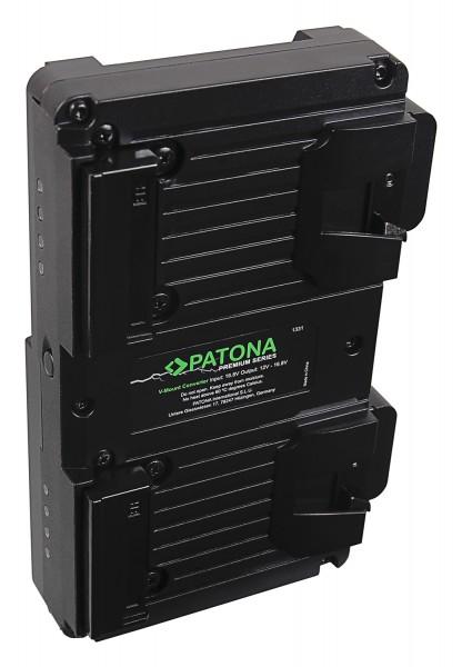 PATONA Premium Hot Swap V-Mount Adapter für 2x V-Mount PATONA NANO Akkus inkl. Ladefunktion D-Tap