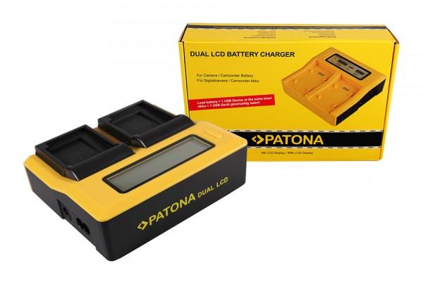 PATONA Dual LCD USB Ladegerät f. Canon NB12L NB13L Legria Mini X NB12L NB13L PowerShot G1 X Mark