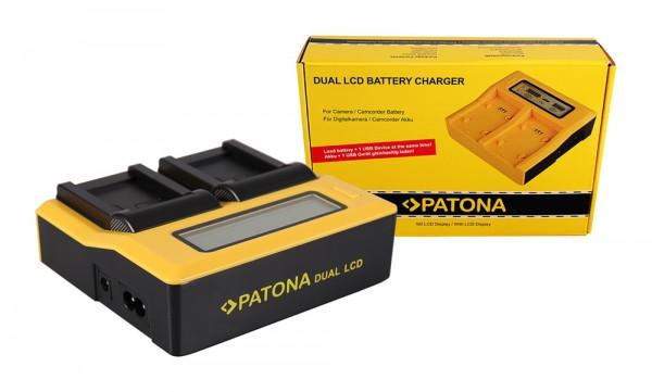 Dual LCD Ladegerät f. Canon NB-7L Powershot G10 G11 G12 von PATONA