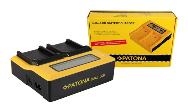 Dual LCD Ladegerät f. Canon LP-E8 EOS 550D 600D 650D 700D von PATONA
