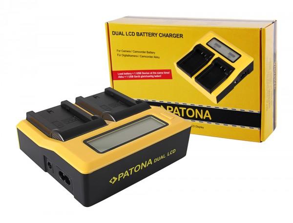 PATONA Dual LCD USB Ladegerät f. Sony NP-FZ100 A7 III A7M3 Alpha 7 III A7 R III A7RM3 Alpha 7 R III A9 Alpha 9 FZ100