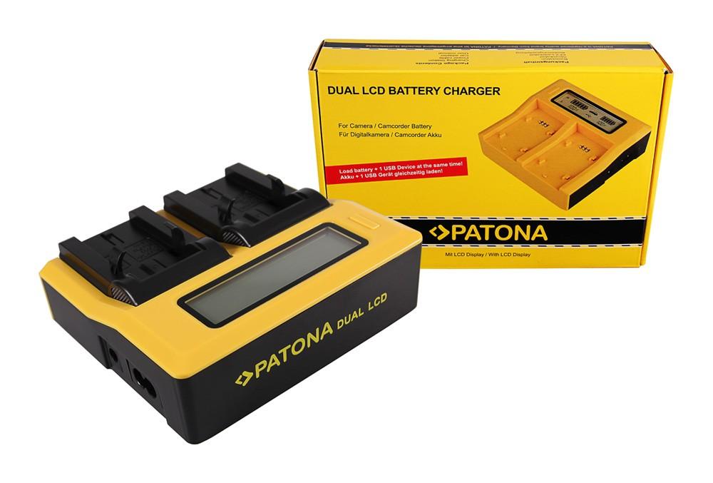 Patona Kodak Klic-8000 DB-50 Easyshare Z1012 IS Z1085 IS Z1485 IS Z612 dual LCD USB töltő