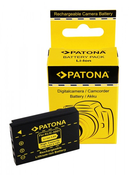 Akku f. Kodak Klic-5001 Easyshare DX6490 DX7590 DX7630 Z730 von PATONA
