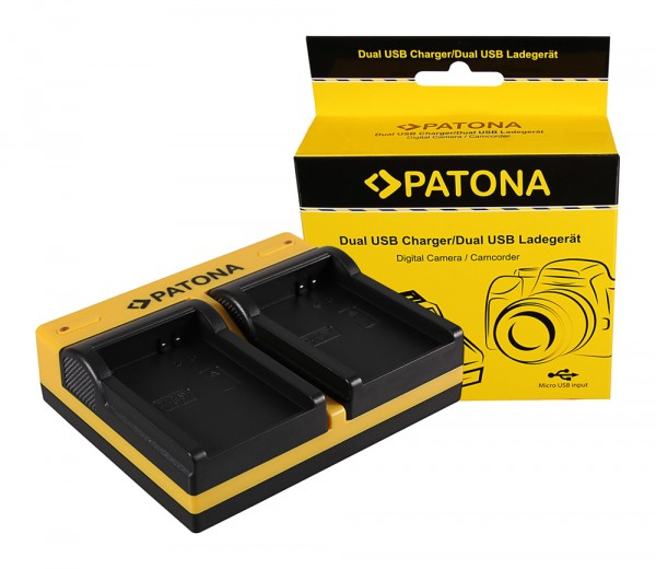 PATONA Dual Ladegerät f. Samsung BP1310 NX10 NX100 NX11 inkl. Micro-USB Kabel