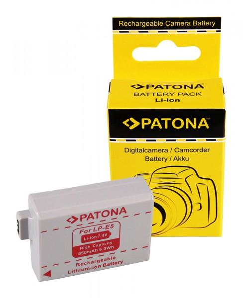 Akku f. Canon LP-E5 EOS 1000D 450D 500D von PATONA