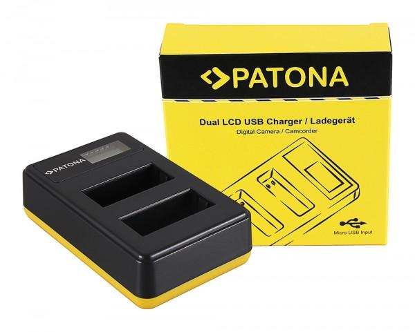 PATONA Dual LCD USB Ladegerät f. Canon LP-E17 EOS 750D 760D 8000D Kiss X8i Rebel Rebel T6i